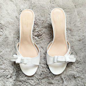 Kate Spade Simona Bow Kitten Heel White Size 7